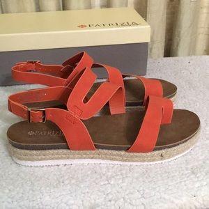 Patrizia Orange Sandals Sz 9